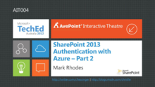 SharePoint 2013 Authentication with Azure – Part II