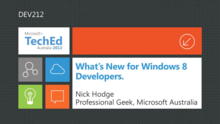 Whats New for Windows 8 Developers Part 1 aka The Square Cheese Has Moved. A Little