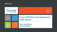 Cross Platform Development with Windows Phone and Mono