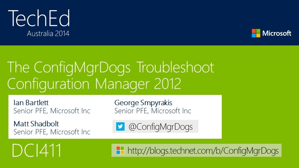 ConfigMgrDogs Troubleshoot ConfigMgr 2012