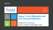 WS2012 Hyper-V Live Migration and Live Storage Migration